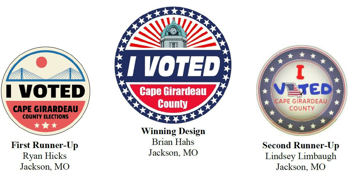 "Winner of ""I Voted"" sticker contest in Cape Girardeau County announced"
