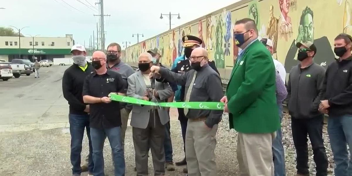 Celebration held for completed Cape Girardeau river wall project