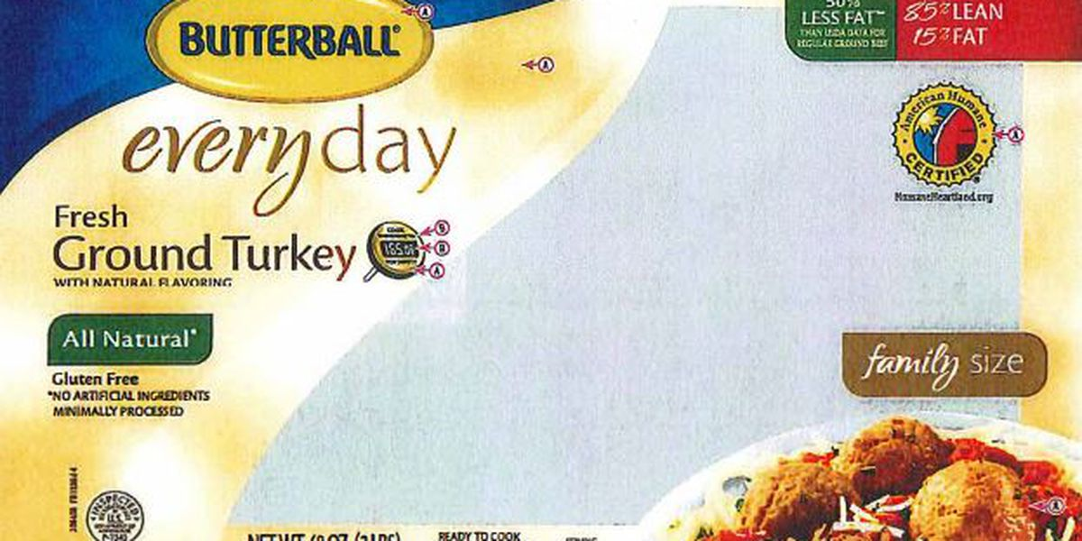 Butterball recalls ground turkey due to possible Salmonella