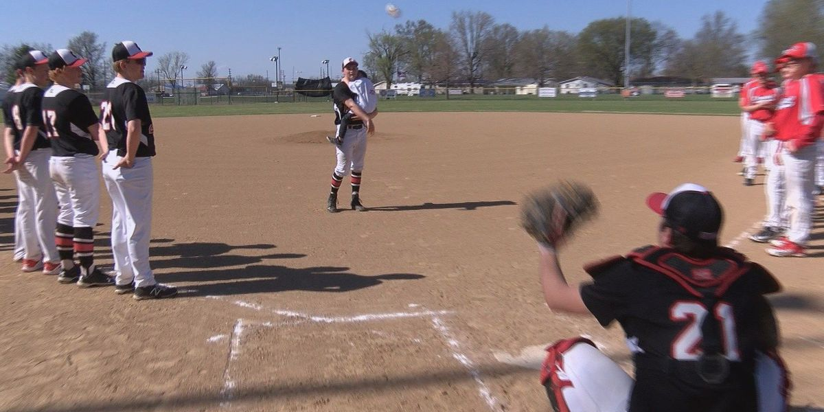 Special first pitch thrown at Chaffee High game