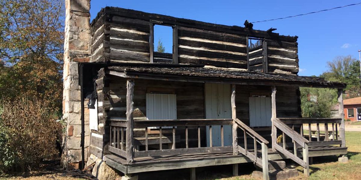 Over 100-year-old log cabin in Marquand damaged in fire