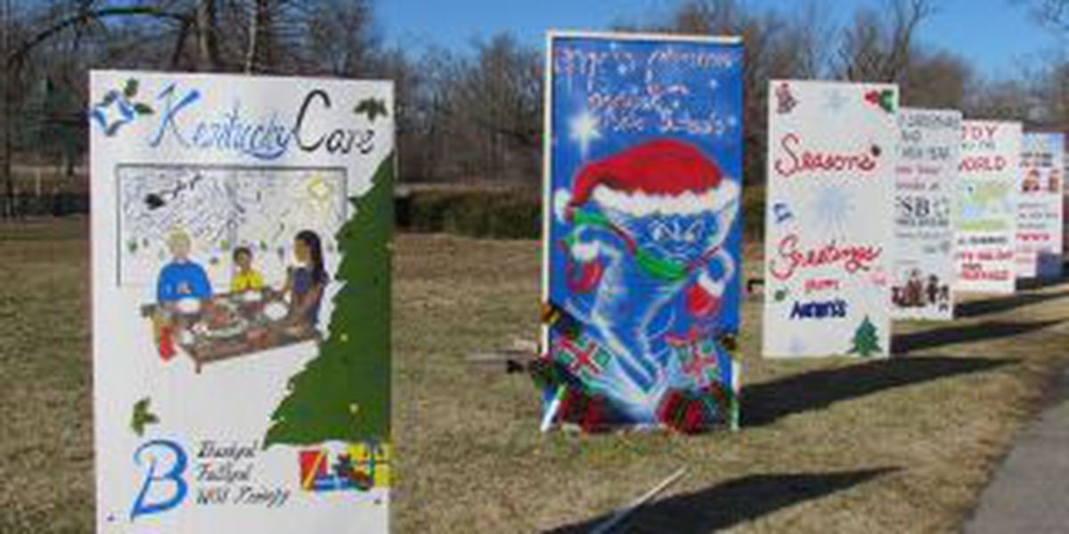 Paducah presents Christmas Cards in the park