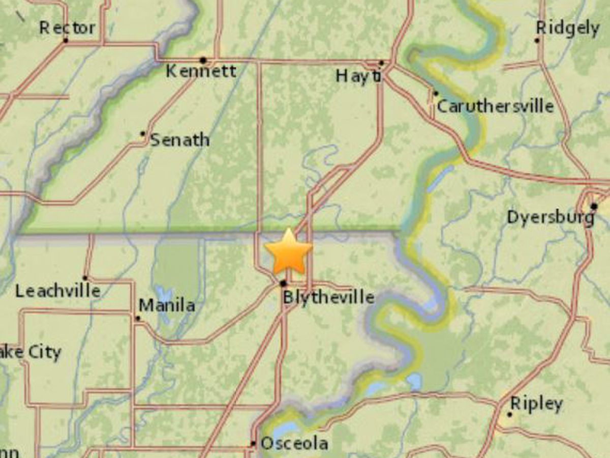 Earthquake hits in MO, TN and AR, magnitude 2.3