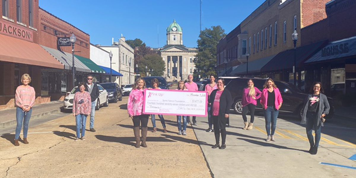 Saint Francis Foundation, Uptown Jackson collect over $1,470 for cancer screenings during Pinktoberfest