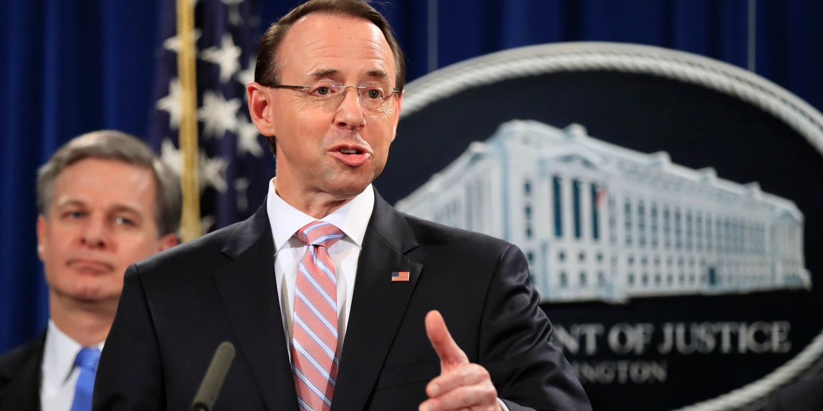 Report: Rod Rosenstein expected to leave Justice Department in March