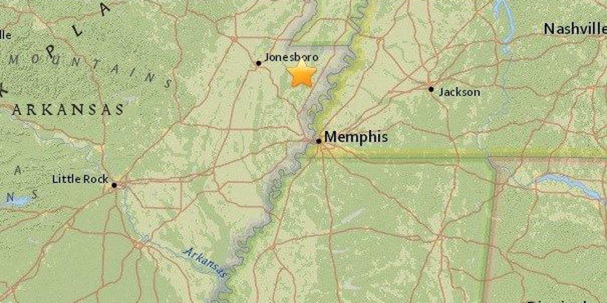 M2.0 earthquake recorded near Caraway, AR