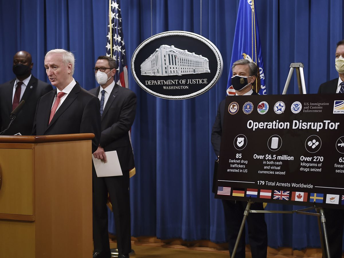 Justice Dept.: 179 arrested in darknet opioid takedown
