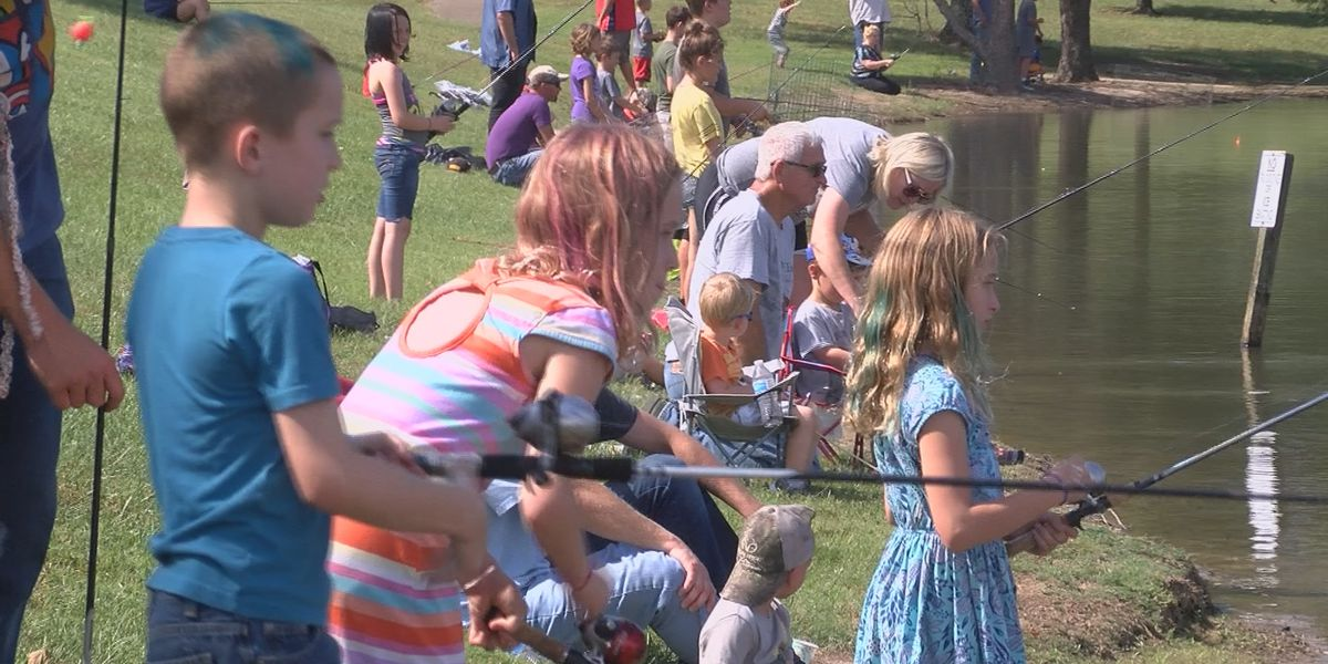 Kids learn to fish at Fraternal Order of Police Fishing Rodeo event