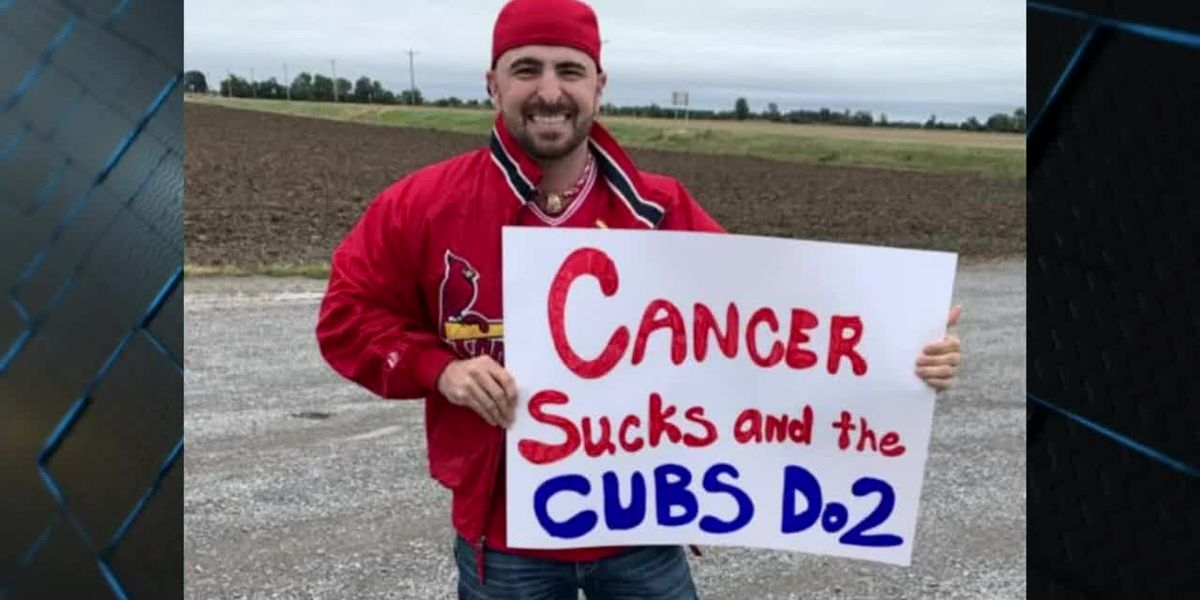 Cubs fan dons Cardinals gear to support a friend battling cancer