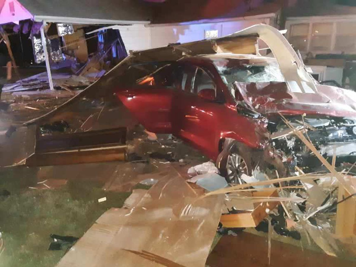 Driver crashes through couple's bedroom, couple thrown from home