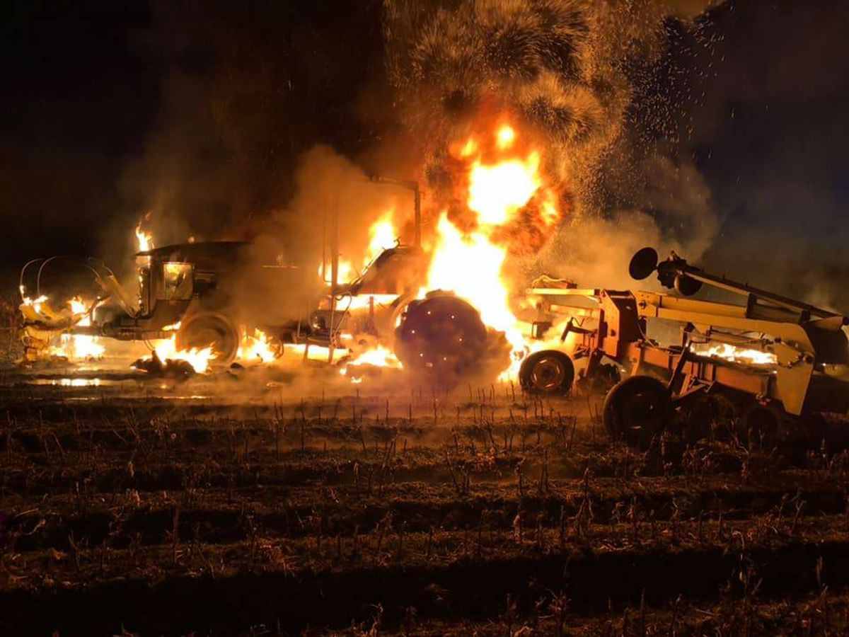 Crews called to tractor, cotton module fires in Campbell, MO
