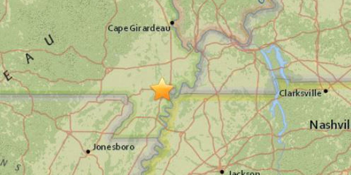 USGS: 2.1 Earthquake in SE MO