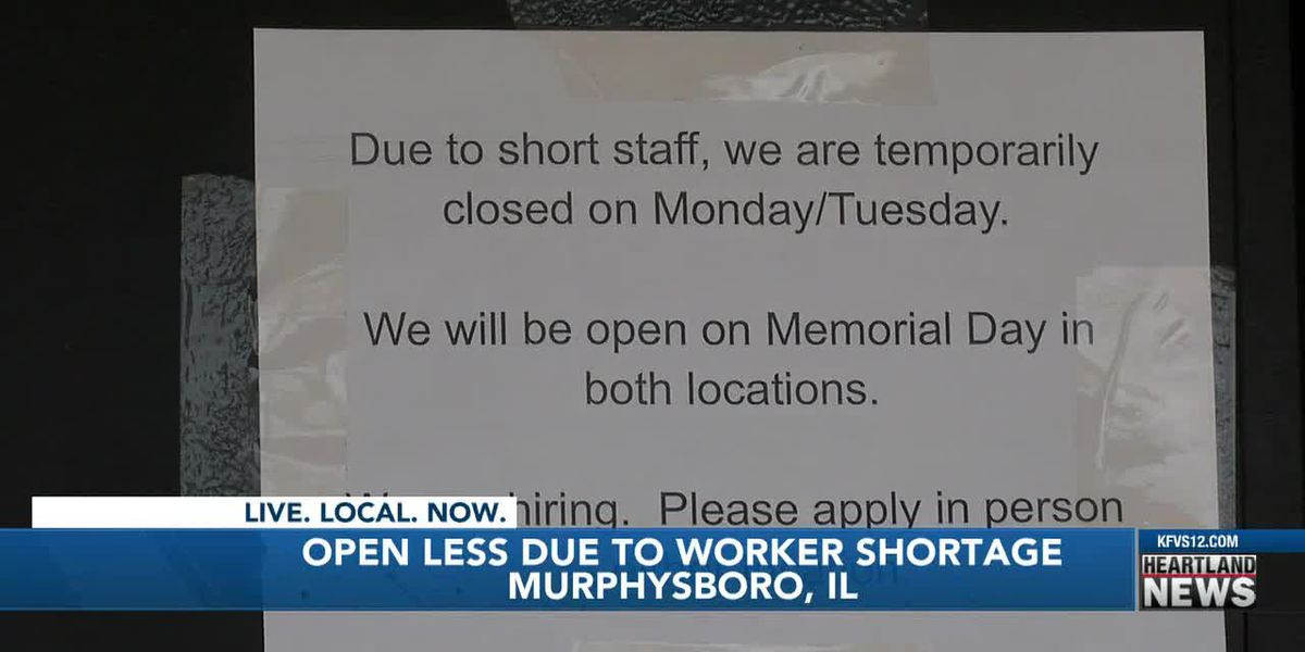 Heartland businesses open less due to worker shortage