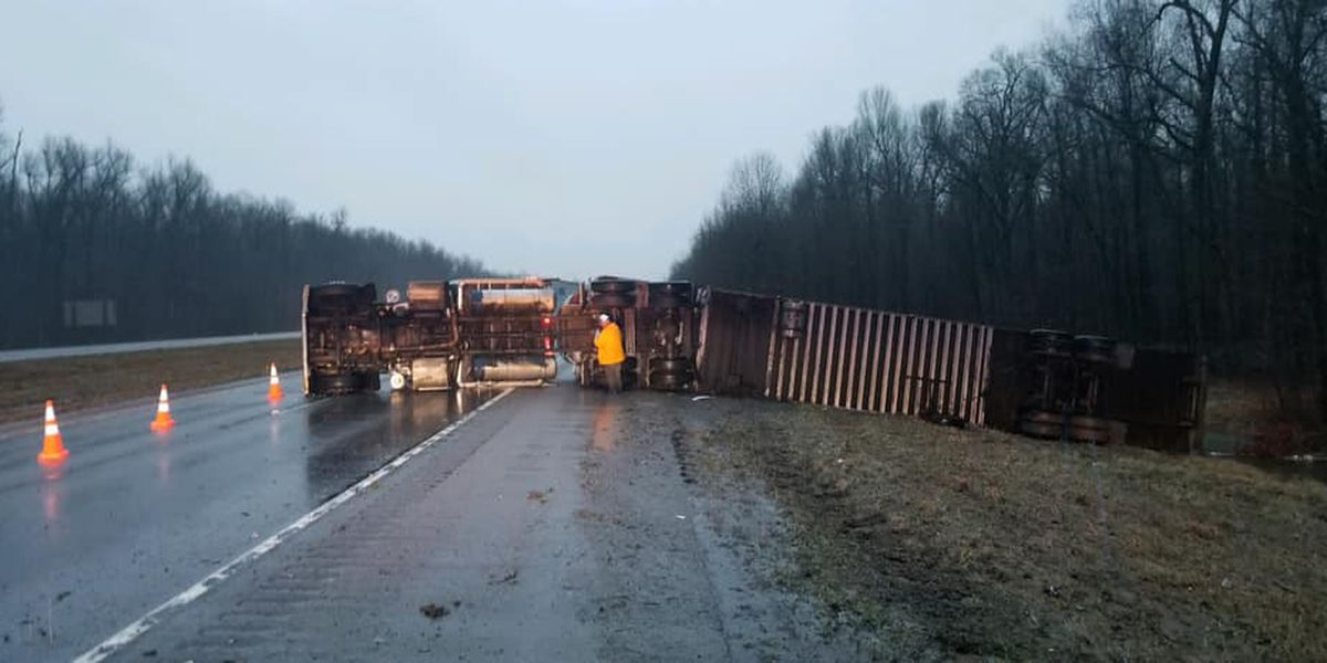 I-24 open near Metropolis, IL after rollover crash