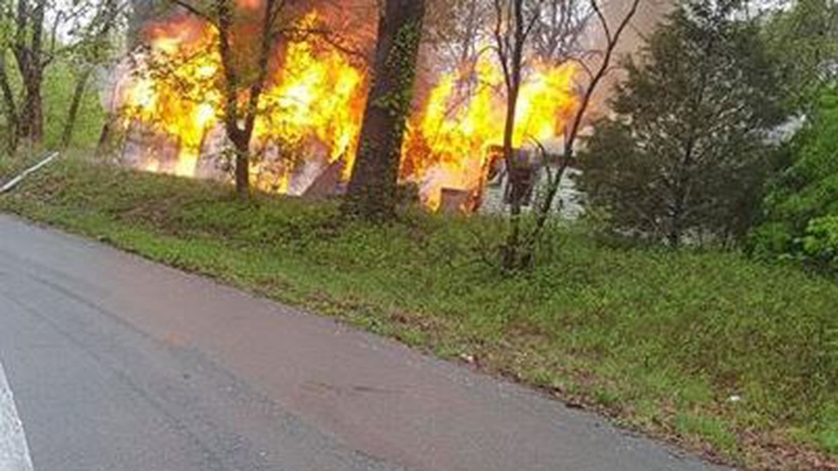 Abandoned house fire in Scott County, MO