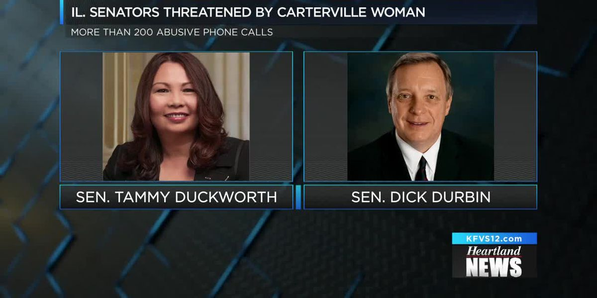 Carterville woman accused of harassing Illinois Senators