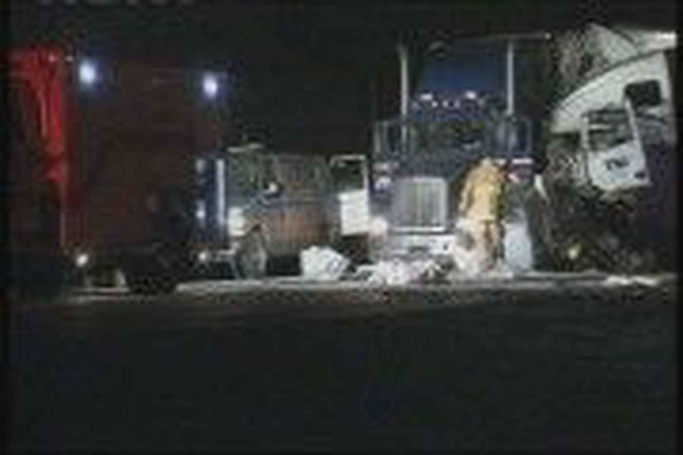 Three year old killed in crash with two tractor trailers