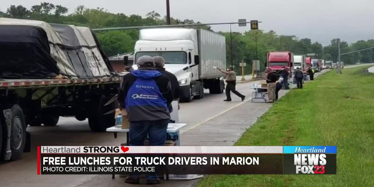 Free lunches for truck drivers in Marion
