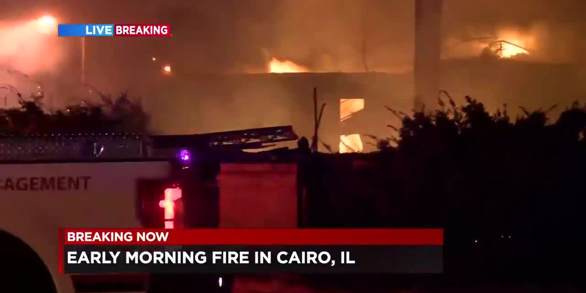 Fire damages buildings in Cairo, IL