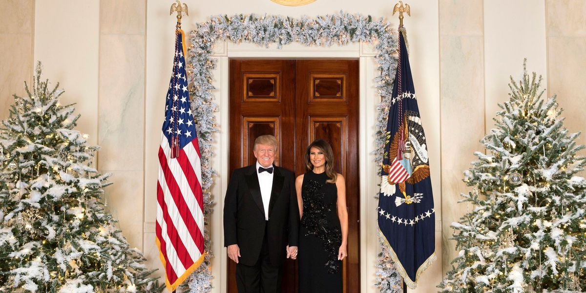 White House releases President Trump's first Christmas photo