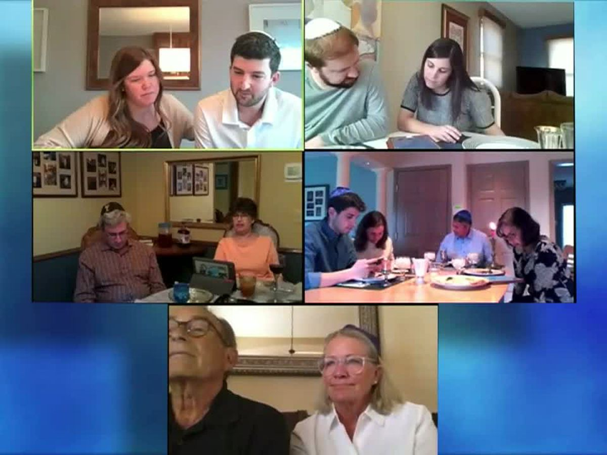 Start of Passover celebrated remotely, as families connect online
