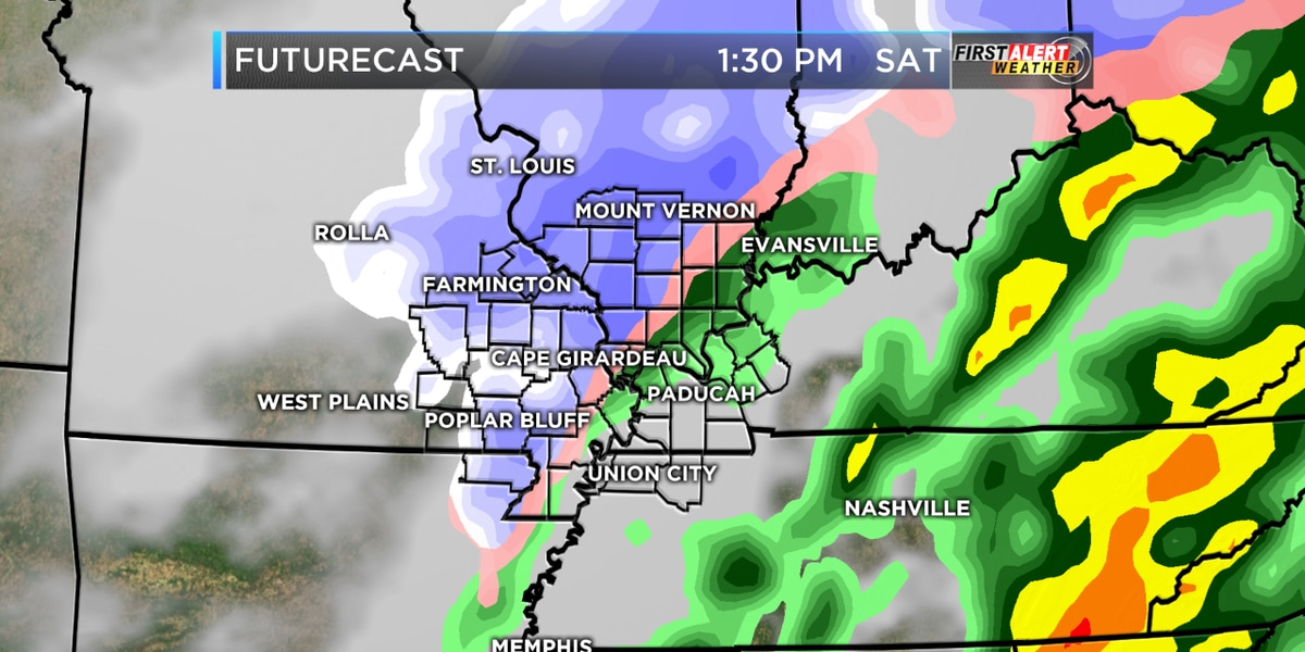 First Alert: Light showers moving out, snow this weekend