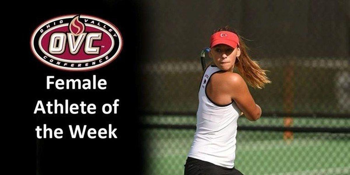 Redhawks tennis player named OVC Female Athlete of the Week