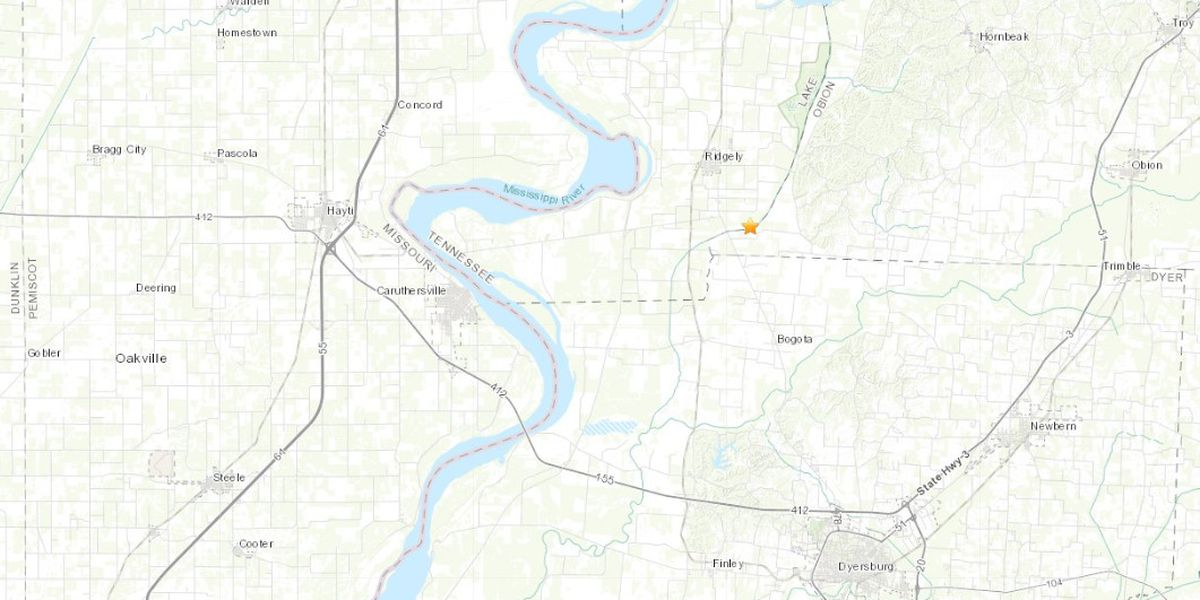 Small earthquake reported near the Bootheel
