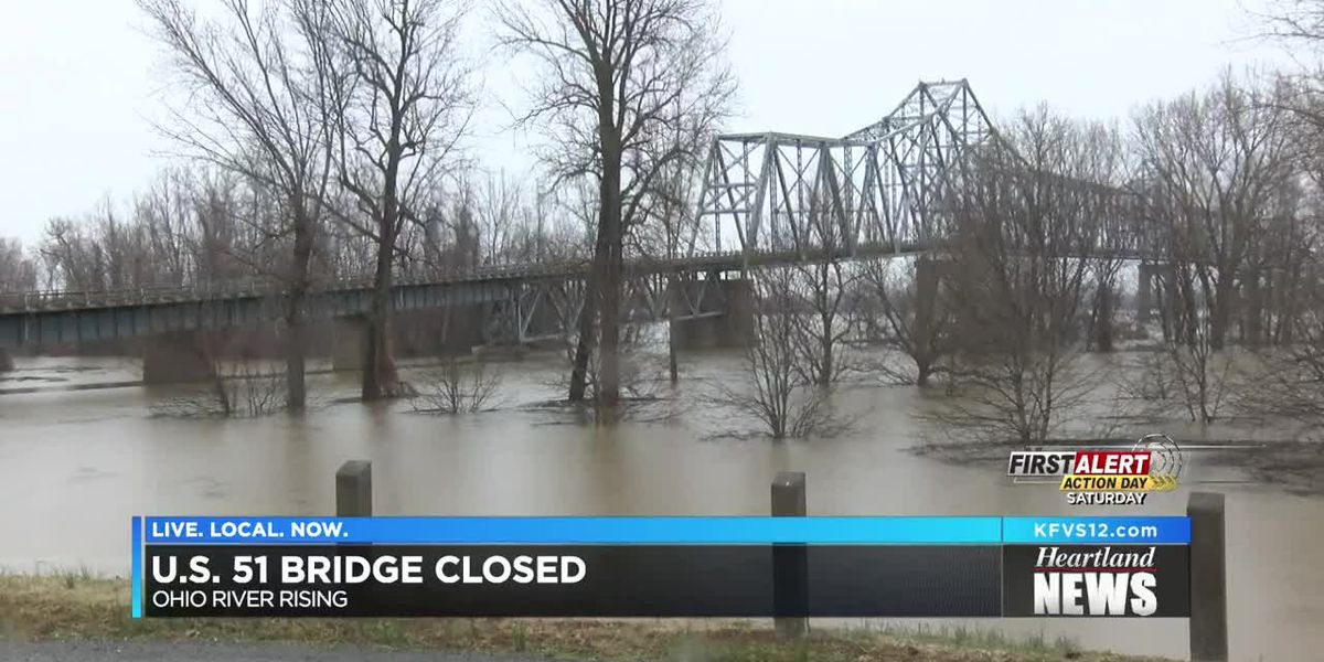US 51 'Cairo Bridge' closed due to flooding