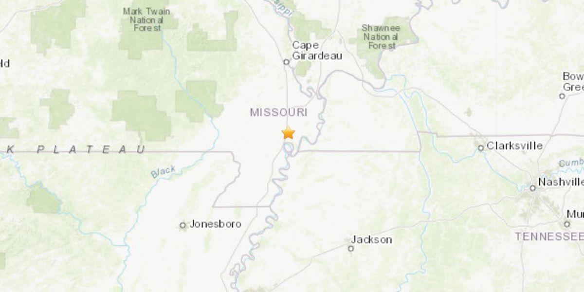 M2.4 earthquake recorded north of New Madrid, Mo.